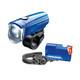 Trelock LS350 I-go Sport + LS710 Reego Fietsverlichting sets blauw